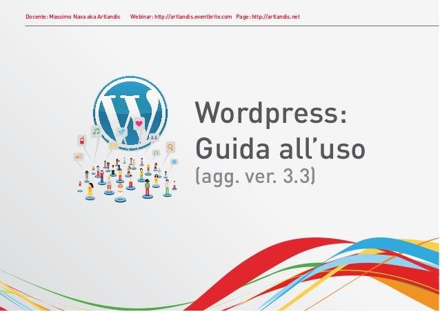 Wordpress: Guida all'uso