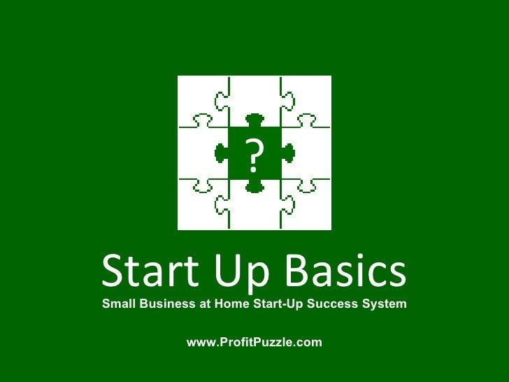 Small Business Start Up Basics