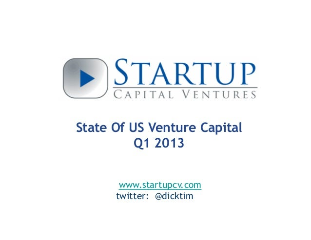State Of Venture Capital 2013