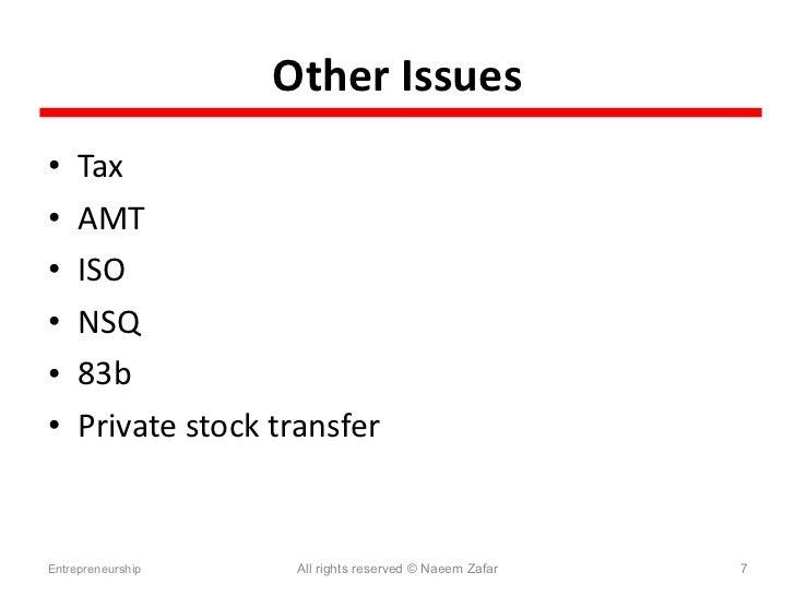 Iso stock options 83b