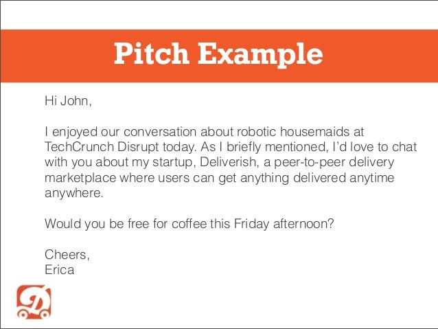 startup email pitching 101