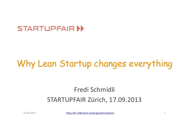 Startupfair 2013: Why lean startup changes everything