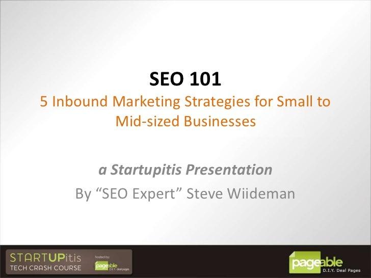 Slides from Startupitis Event