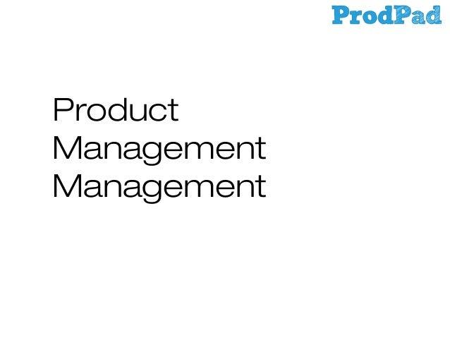 Product Management Management