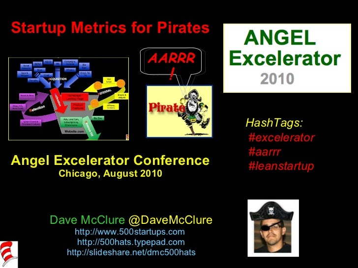 Startup Metrics for Pirates Angel Excelerator Conference Chicago, August 2010 Dave McClure  @DaveMcClure http://www.500sta...