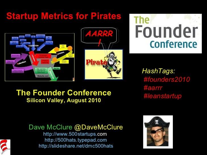 Startup Metrics for Pirates (Aug 2010)