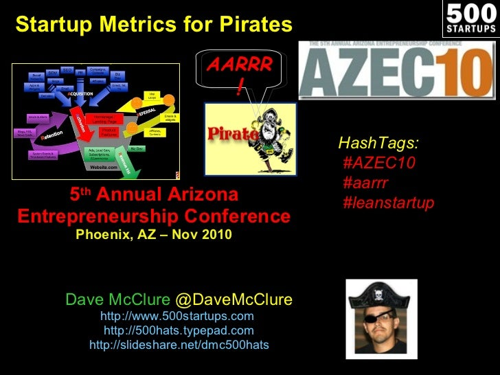 Startup Metrics for Pirates 5 th  Annual Arizona Entrepreneurship Conference Phoenix, AZ – Nov 2010 Dave McClure  @DaveMcC...