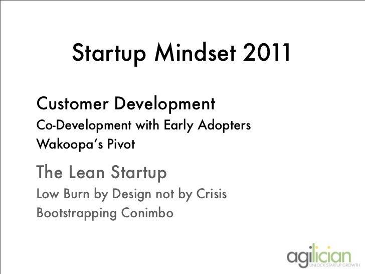 Startup Mindset 2011