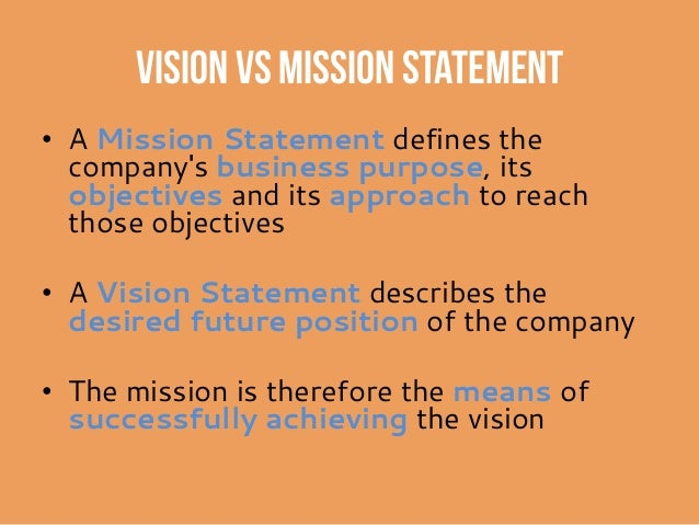 personal vision statement vs mission statement