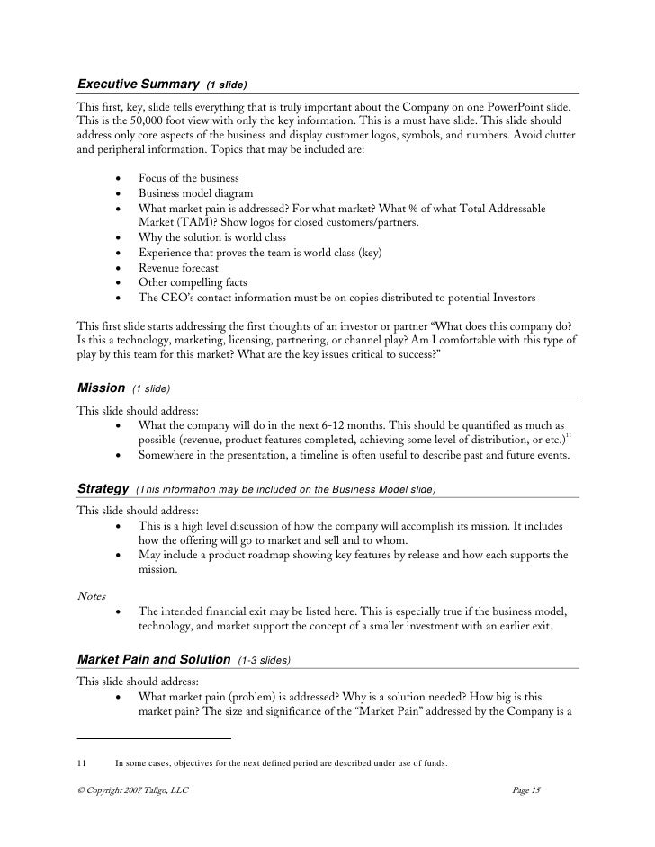 One Page Executive Summary Template Benchmarking You Can