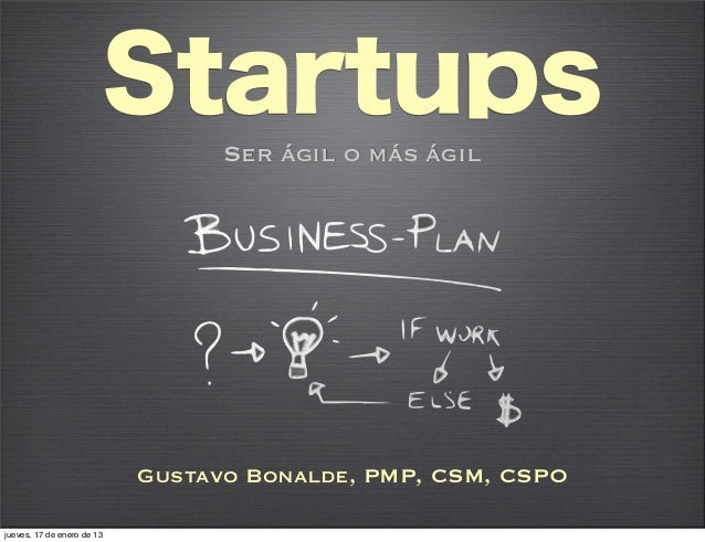 Startups  agil o mas agil wayra talk