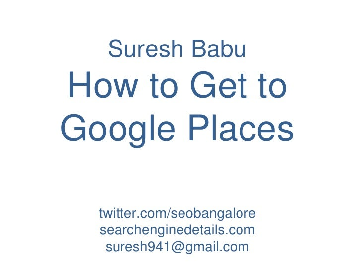 Local SEO in Bangalore Start up saturday. Google places