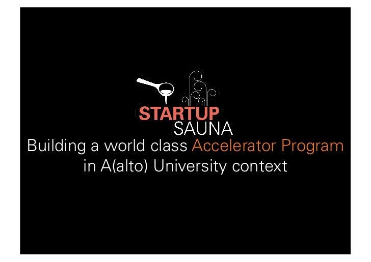 Startup Sauna - REE @ Aalto