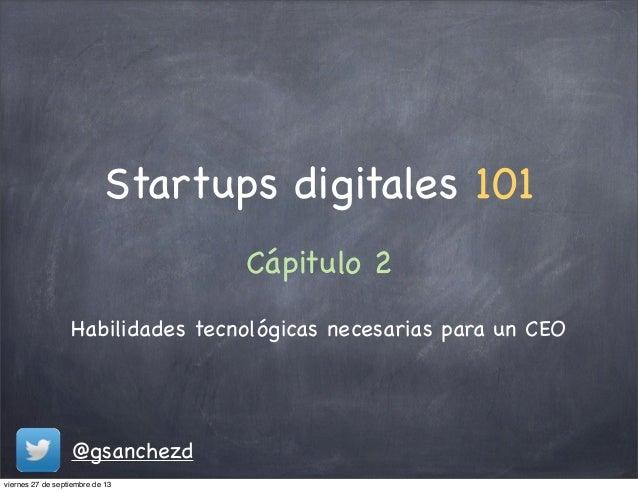 Conocimientos necesarios para una startup digital