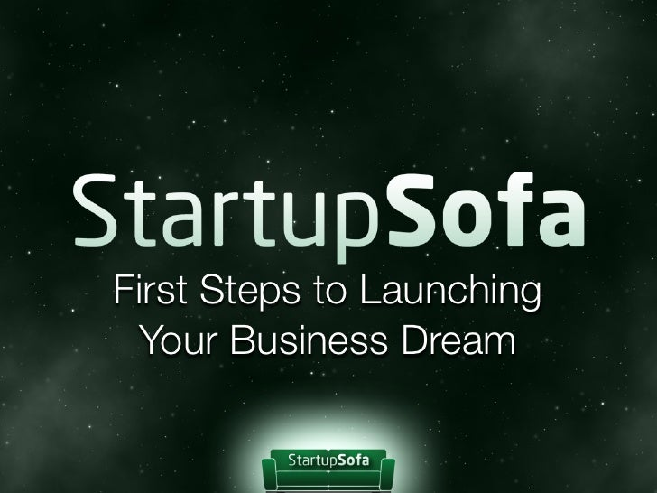 StartupSofa.com - First Steps to Launching Business Dream