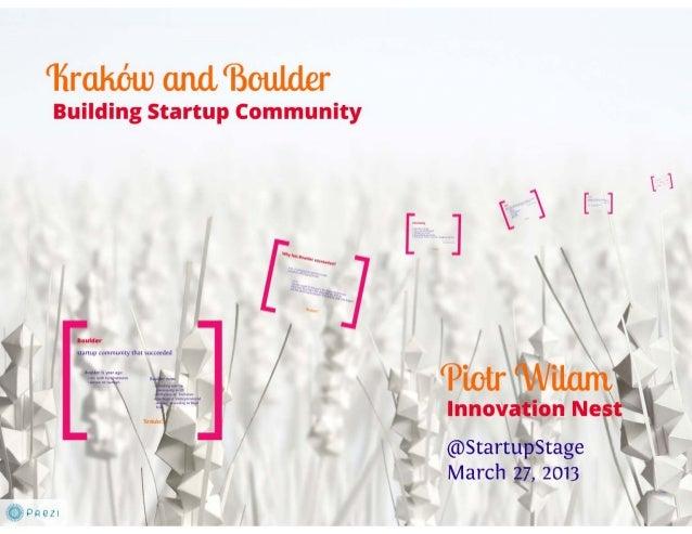 Startup Stage#3 - Communities - Piotr Wilam - Building Startup Communities