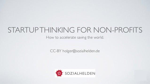 Workshop: Startup thinking for non profits