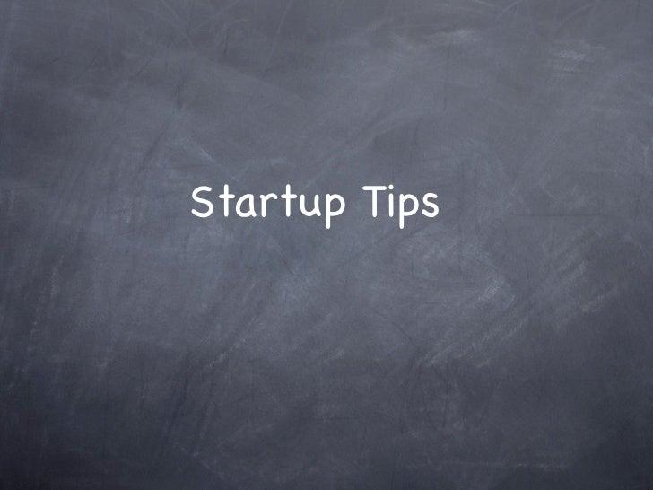Startuptips