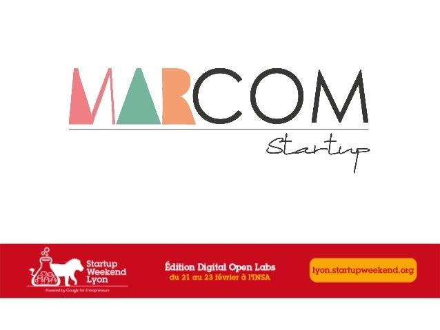 Startup weekend Lyon 6ème édition, sous les lumières...