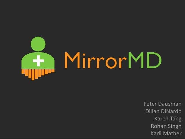 Mirror MD - Startup Weekend Pittsburgh 2013