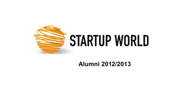 Startup World Alumni 2012/2013