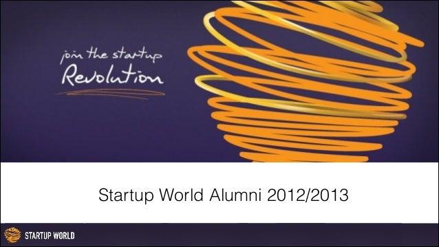 Startup World Alumni 2012/13