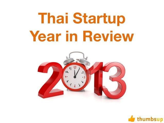 Thai Startup Year in Review 2013