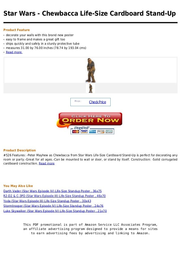 Star Wars - Chewbacca Life-Size Cardboard Stand-UpProduct Featureq   decorate your walls with this brand new posterq   eas...