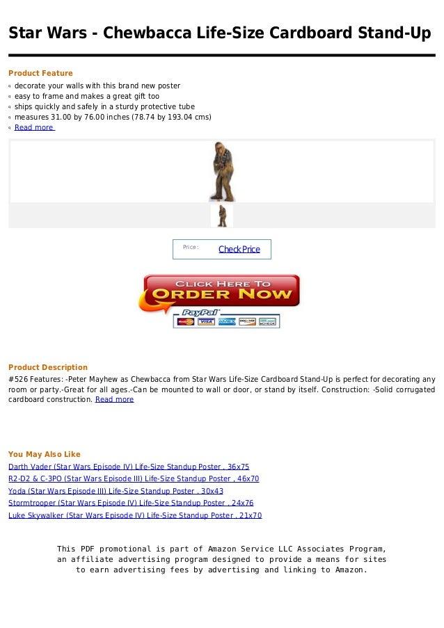 Star wars   chewbacca life-size cardboard stand-up