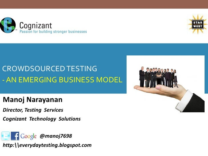 Transitioning into an agile testingCROWDSOURCED TESTING  organisation- AN EMERGING BUSINESS MODEL  - A practitioners frame...