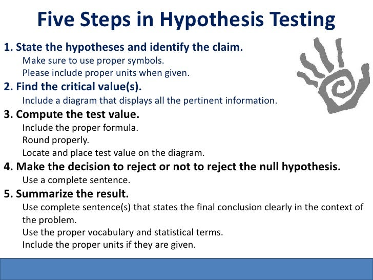 testing hypothesis essay