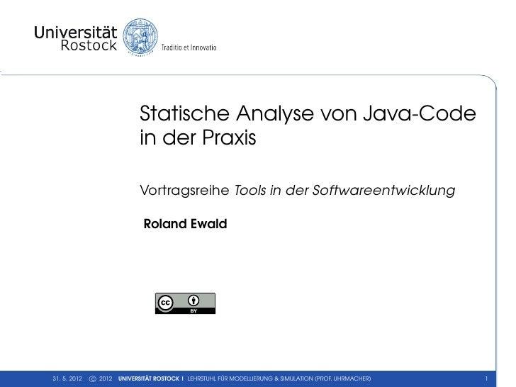 Statische Analyse von Java-Code in der Praxis