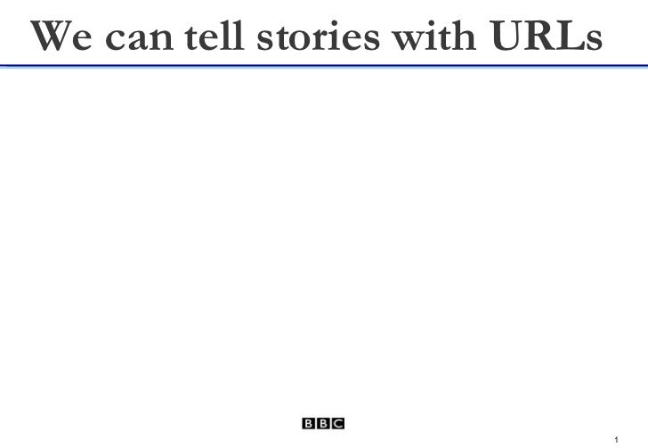 Telling Stories with URLs - RDF - State Of BBC Semantic Web