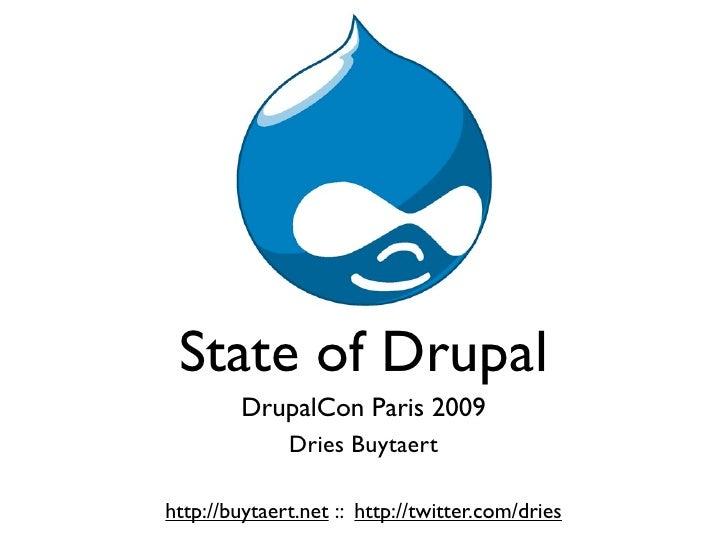State Of Drupal September 2009