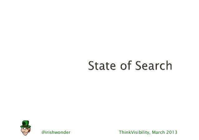 State of Search RIMC 2013