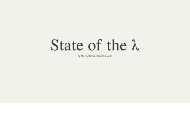 State of the lambda