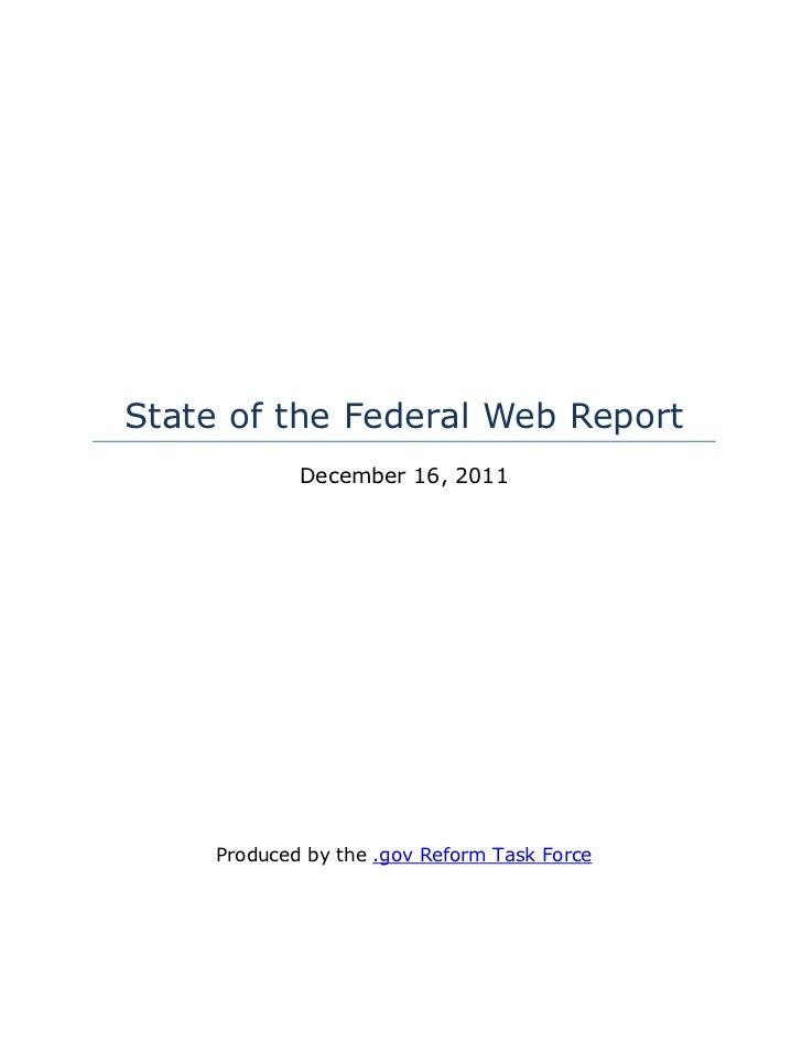 .gov Taskforce - State of-the-web