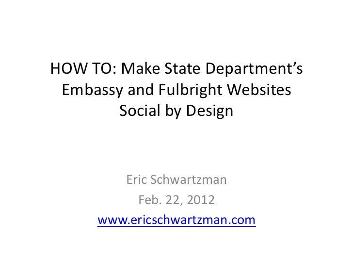 Socializing State Dept. Websites
