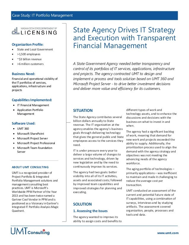 State Agency Drives IT Strategy and Execution with Transparent Financial Management