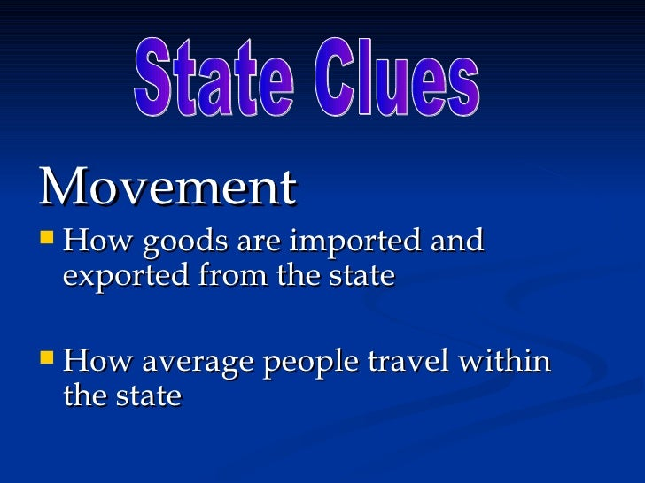 State Clues