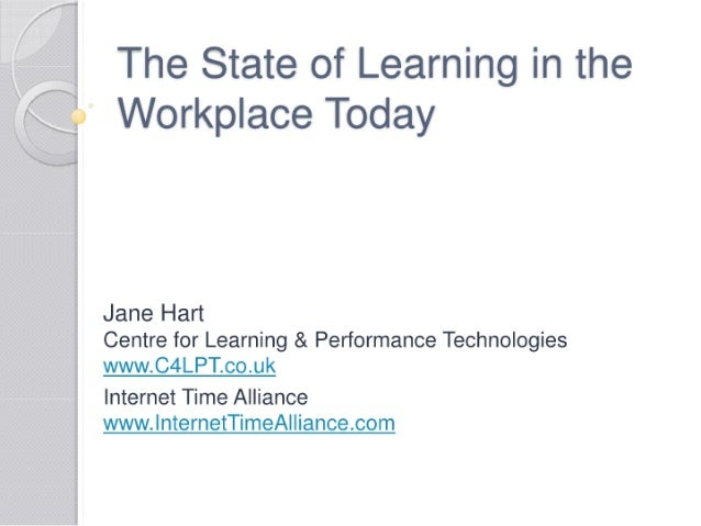 The State of Learning in the Workplace Today