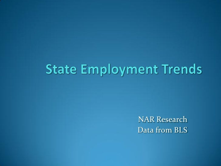 NAR Research Data from BLS