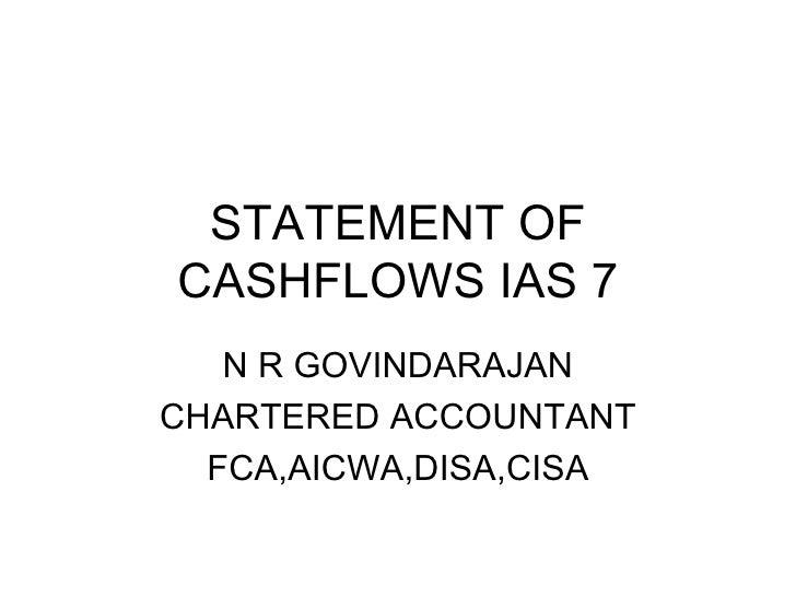 Statement of cashflows ias 7