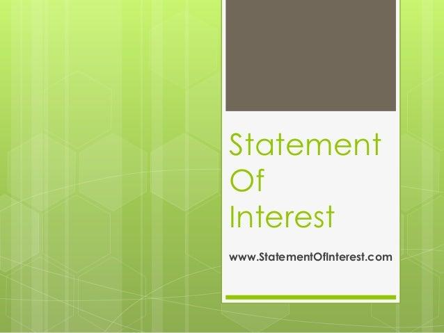 Statement of interest