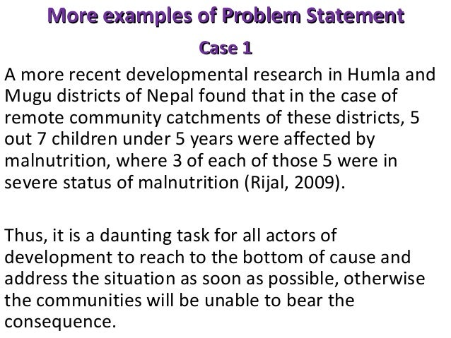 Writing a dissertation problem statement