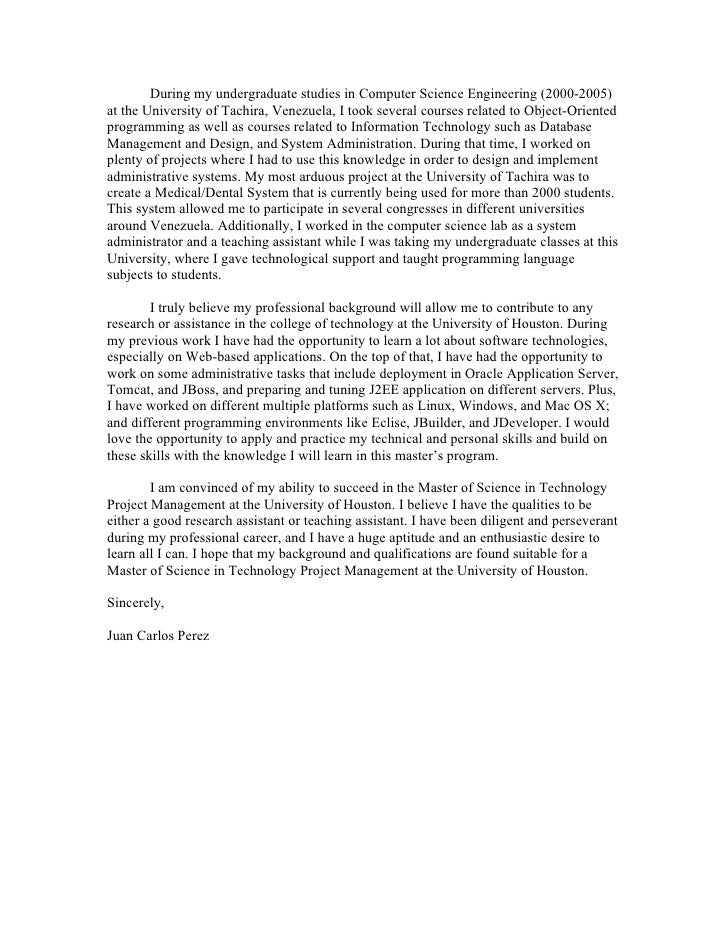 Statement Of Purpose For Graduate