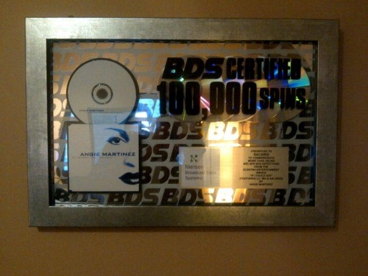 Sacario Nielsen BDS Spin Award 100,000 Radio Spins