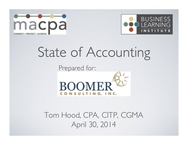 State of Accounting Profession - Boomer webcast