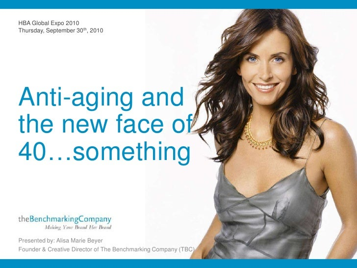 HBA Global Expo 2010<br />Thursday, September 30th, 2010<br />Anti-aging andthe new face of40…something<br />Presented by:...