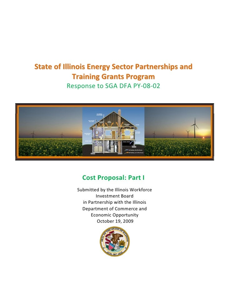 State of illinois energy sector partnerships and training grants program